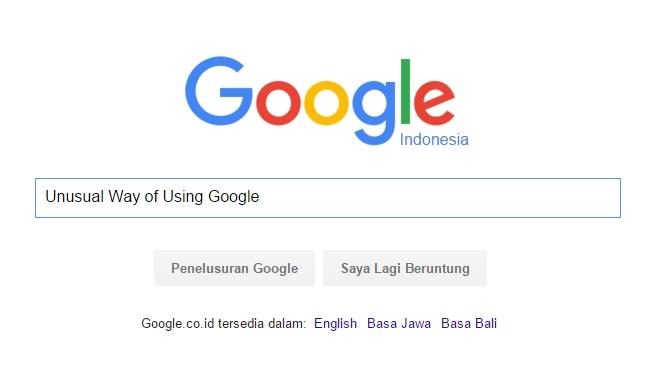 Cara tidak biasa menggunakan Google
