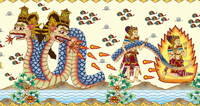 Sejarah Selat Bali-Naga Besakih