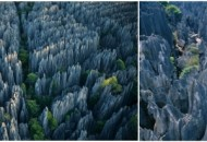 Wisata Hutan Batu di Tiongkok
