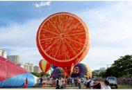Balon udara berbentuk jeruk