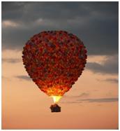 Bentuknya mirip dengan balon di film UP