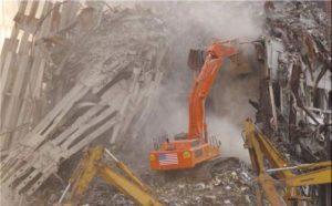 Tumpukan debu pada alat berat